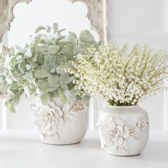Ceramic Rose Vase