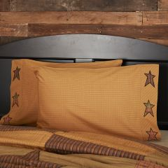 Rustic Cabin Star Pillow Case Set of 2