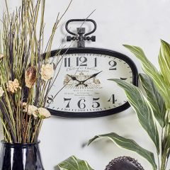 Vintage Inspired Oval Chateau Clock
