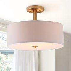 Semi-Flush Ceiling Drum Light