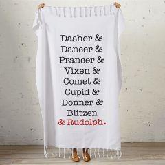 Reindeer Names Blanket