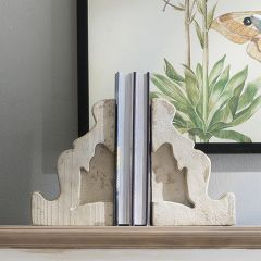 Distressed Magnesia Corbel Bookends