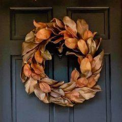 Fall Harvest Magnolia Leaf Wreath