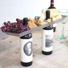 Double Bottle Topper Serving Tray