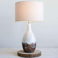 Ceramic Lamp With Reactive Glaze