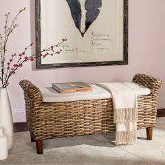 Woven Bench With Cushion Top