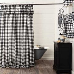 Buffalo Check Ruffled Shower Curtain