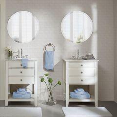 8 Piece Cotton Towel Set Light Blue
