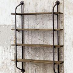 Pipe Style 4 Shelf Wall Unit
