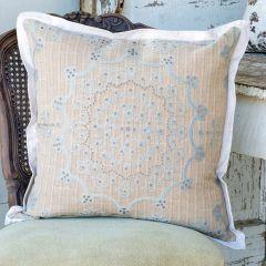 Decorative Down Pillow Cushion Cream