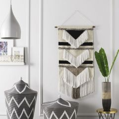 Textured Geometric Woven Wall Hanging