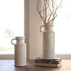 Glazed Stoneware Pitcher Vase