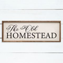 The Old Homestead Framed Wall Sign