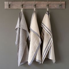 Stripe Linen Dish Towel Set of 3