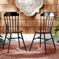 Stackable Spindle Dining Chair Set of 2