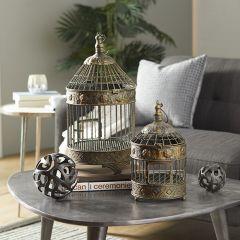 Vintage Inspired Decorative Birdcage Set of 2