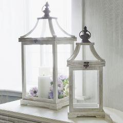 Cottage Decor Lantern Set of 2