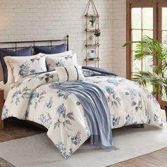 7 Piece Zinnia Print Comforter Set