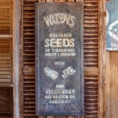 Vintage Inspired Seed Advertising Sign