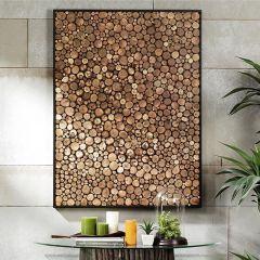 Framed Wood Stalks Wall Art