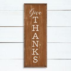 Give Thanks Orange Wall Art