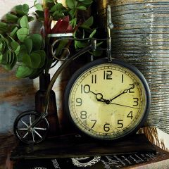 Vintage Inspired Bicycle Tabletop Clock
