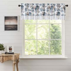 Floral With Ruffle Valance