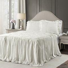 Pintuck Ruffle Skirt Bedspread Set