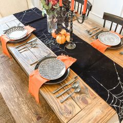 Spooky Spider Web Table Runner