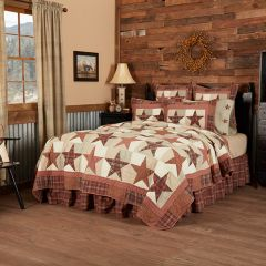 Country Plaid Star Quilt