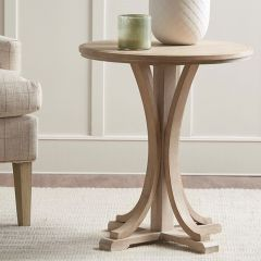 Farmhouse Living Round Accent Table