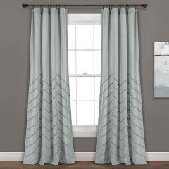 Chic Chenille Chevron Window Curtain Panel Set of 2