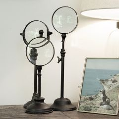Standing Metal Magnifying Glass Set of 3