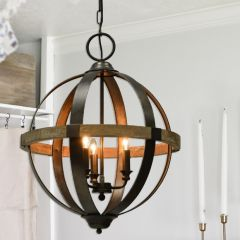 3 Bulb Sphere Chandelier