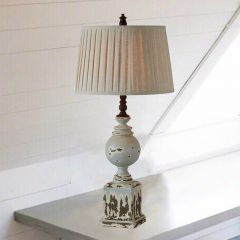 Table Lamp With Pleated Shade