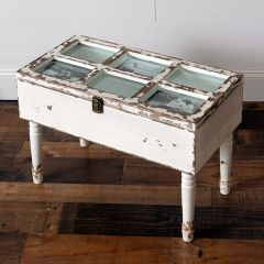 Distressed Storage Chest Table