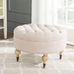 Luxurious Round Tufted Ottoman