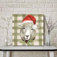 Holiday Farm Animal Wall Art Sheep