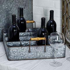 16 Bottle Tabletop Wine Holder Tray