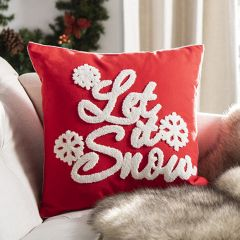 Let It Snow Bright Accent Pillow