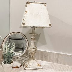 Weathered Ornate Table Lamp