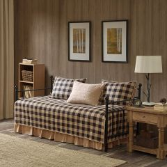 5 Piece Checked Day Bed Cover Set