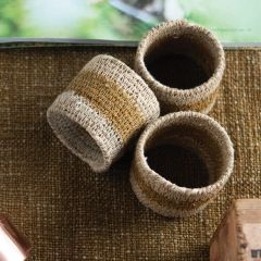 Woven Seagrass Napkin Rings Set of 4
