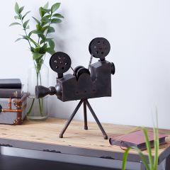 Antique Inspired Decorative Tripod Camera
