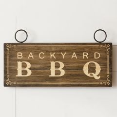 Backyard Barbecue Wall Sign