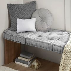 Classic Cottage Square Floor Cushion Smoky