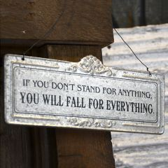 Hanging Stamped Metal Inspirational Sign Stand