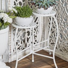 Pale Folding Plant Stand