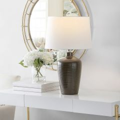 Cotton Shade Table Lamp