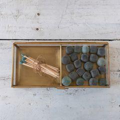 Brass Framed Glass Display Box